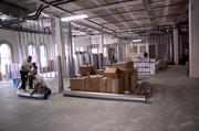 Work crews are busy renovating the 15,559-square-foot space, which takes up two sides of the second floor.