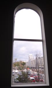 The view of downtown Orlando from the PlanSource office space.