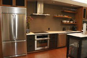 The break room at Garrison Hullinger doubles as a show kitchen - no dirty dishes in the sink!