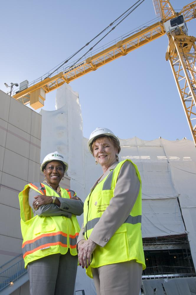 Sequoia Hospital COO Sherie Hickman (left) and CEO Glenna Vaskelis are nearing the finish line.