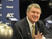 ACC Commissioner John Swofford was in Charlotte on Monday to announce a six-year contract extension to keep the championship game in Charlotte through 2019.
