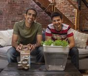 Alejandro Velez (left): Co-founder of Back to the Roots. Age: 25. No. 1 thing to accomplish by age 40: Be humble, hungry and passionate.  Nikhil Arora (right): co-founder of Back to the Roots. Age: 25. Guilt pleasure: Cheesy music videos.