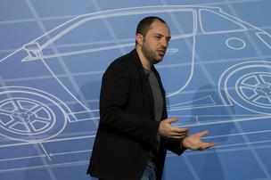 Jan Koum, chief executive officer of WhatsApp Inc., speaks during a keynote address on the opening day of the Mobile World Congress in Barcelona, Spain, on Monday, Feb. 24, 2014.