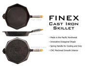 5) Finex Cast Iron Skillet: $211,027 - 844% of goal  Funded Nov. 17, 2013 on Kickstarter in the product design category.  An octagonal cast iron pan with a stainless steel coil handle.