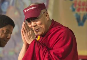 The Dalai Lama at Santa Clara University.