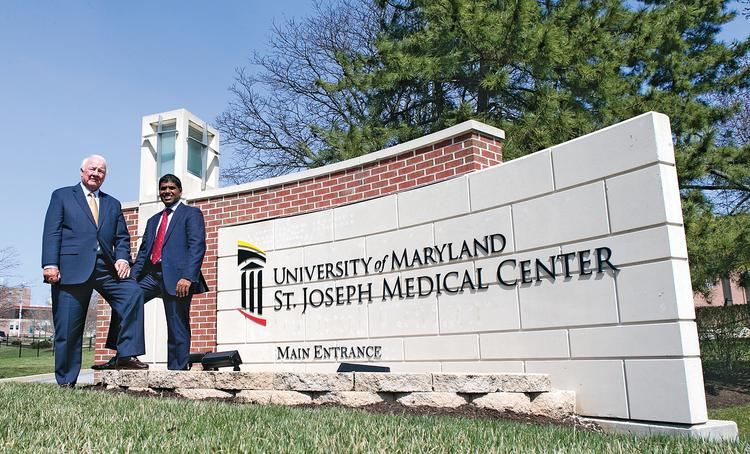University of Maryland St. Joseph Medical Center chairman Francis X. Kelly and Dr. Mohan Suntha are leading the charge to revive the Towson hospital.