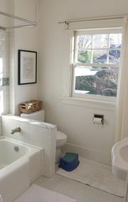 One of the bathrooms in the Canlis home.