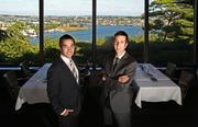 From left, brothers Brian Canlis and Mark Canlis in the family's restaurant Canlis that overlooks Lake Union.