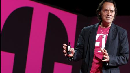 John Legere, CEO of T-Mobile, declined to comment Wednesday on a possible merger with Sprint, but said he wants to grow the company's coverage map and improve competition.