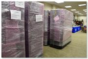 The Megalodon supercomputer at Nova Southeastern University, packed in bubble wrap during its recent move.