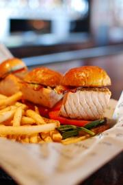One of the Winter Restaurant Week choices at Bar Louie is the salmon sliders.