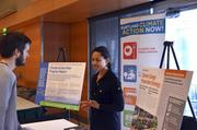 """The partner organizations that helped organize """"Fortified,"""" such as the city of Portland's Bureau of Planning and Sustainability, were on hand to talk to attendees about their own opportunities for climate action."""
