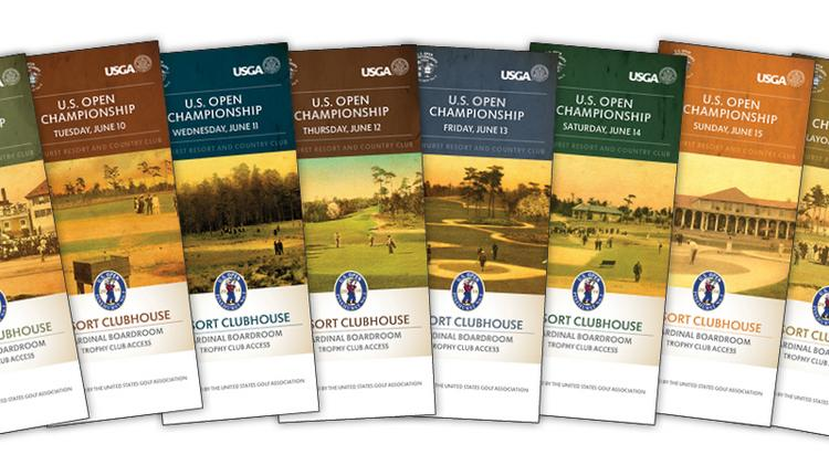 Wilson McGuire designed the tickets for the 2014 U.S. Open and U.S. Women's Open to be held in June in Pinehurst.