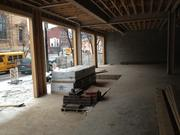 View of the first floor commercial space that fronts onto Butler Street, across the street from the offices of Desmone and Associates. The building offers 7,500 square feet of retail space and has been in talks with such users as a restaurant, health club and jeweler.