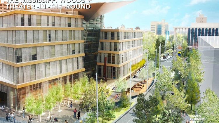 A rendering of what the north end of Nicollet Mall could look like after a renovation project