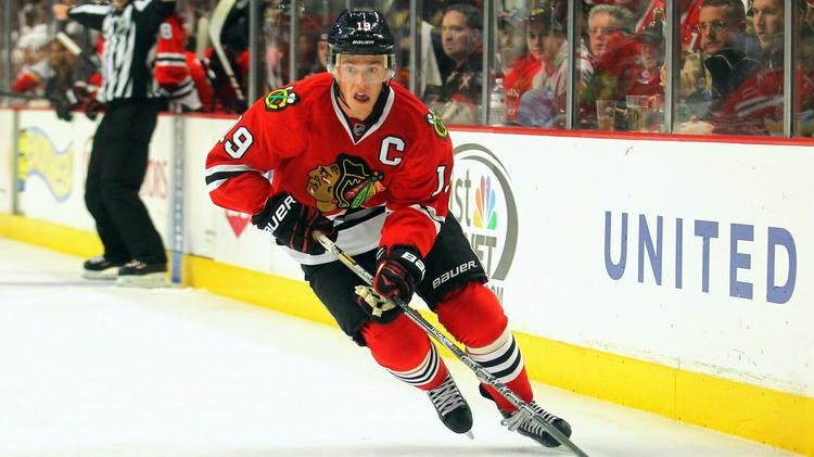Chicago Blackhawks captain Jonathan Toews was displayhing his Stanley Cup champion skills in Monday's game three of Round 1 of the 2014 playoffs.