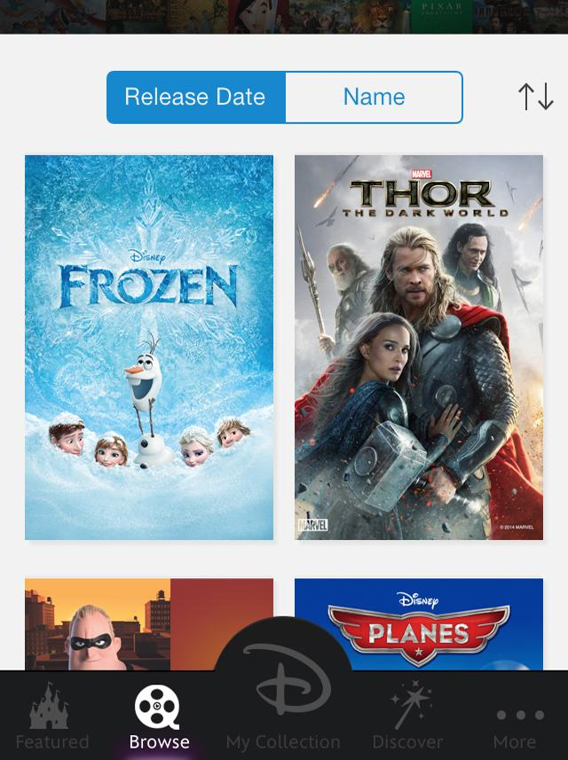 Through the new cloud-based Disney Movies Anywhere for iPhone, iPad, iPod touch and online, consumers can buy, manage and watch more than 400 movies from Disney, Pixar and Marvel—though none from Lucasfilm yet.