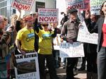 PHOTOS: Protestors deliver petition to Duke Energy over coal ash cleanup