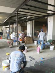 Apropoe's, the new restaurant and lounge space at the Baltimore Marriott Waterfront hotel, has been under construction since December.