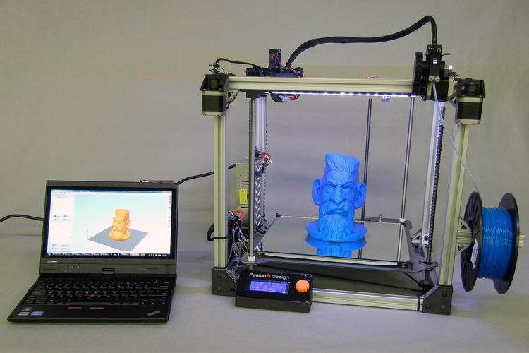 The F306 is the first commercial 3-D printer launched by Greensboro-based Fusion3 Design