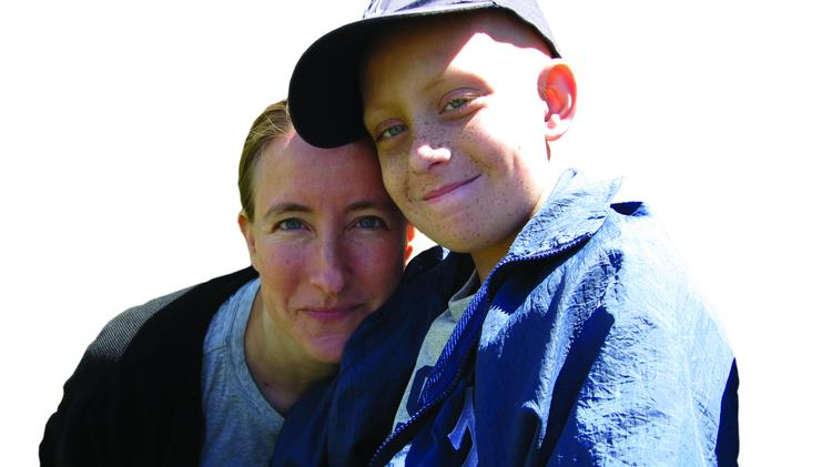 Nancy Goodman with her son, Jacob Froman, who died five years ago from a rare brain cancer.