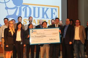 A team of Duke engineering students will use $50,000 to further development of its ultra-thin case for contact lenses.