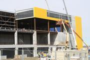 Construction continues on the IKEA store in Merriam.