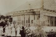 Staff poses outside the Dallas Baby Camp in 1913.