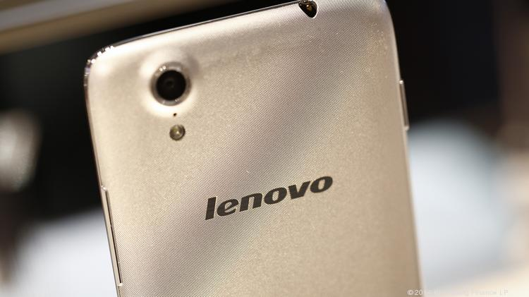 A Lenovo Vibe X smartphone sits on display at Lenovo Group Ltd. pavilion on the opening day of the Mobile World Congress in Barcelona, Spain in February. Photographer: Simon Dawson/Bloomberg