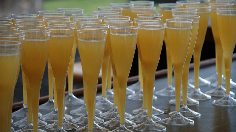 Mimosas at the ready for brunch.