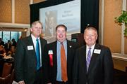 Bob Wood, of Bradley Arrant Boult Cummings, left to right, Randy Bostic, of Lipscomb University, and Kent Cleaver, of Avenue Bank