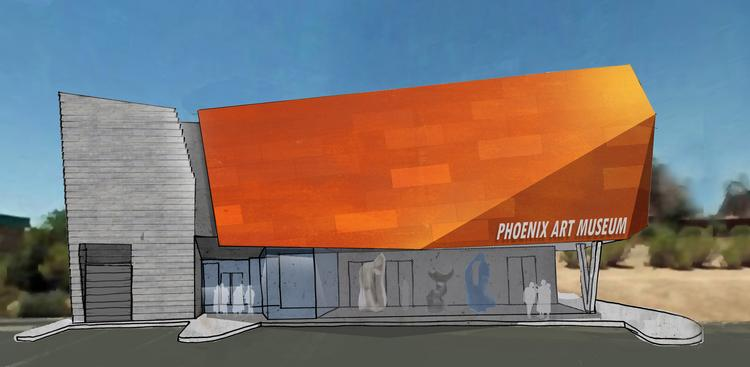 A rendering the Phoenix Art Museum planned for Carefree.