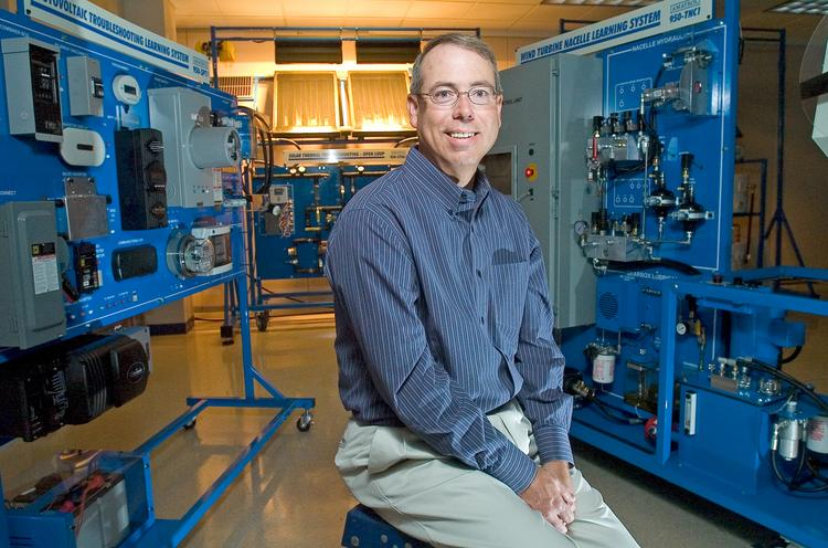 Paul Perkins, president of Amatrol Inc., is shown in the company's Jeffersonville facility.