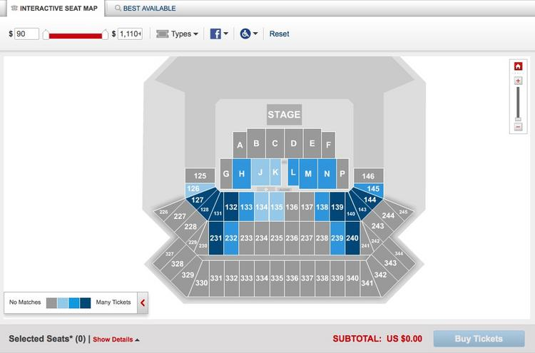 A view of Ticketmaster's IIFA page around 4:30 p.m. on Wednesday.