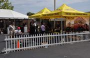 Promotional tents at the opening of Tires Plus.