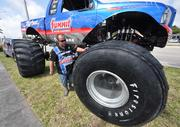 J.R. Adams with his truck Big Foot.