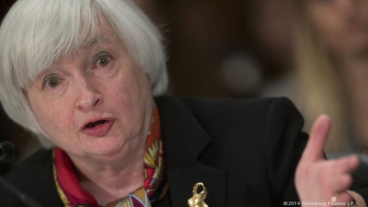 Federal Reserve Chair Janet Yellen will speak at a National Small Business Week reception in Washington, D.C., on Thursday.