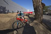 Sponsored athletes like mountain biker Mitch Ropelito often make use of Specialized's on-site pump track. Ropelito, a native of Utah, lives and trains part of the year in Morgan Hill.