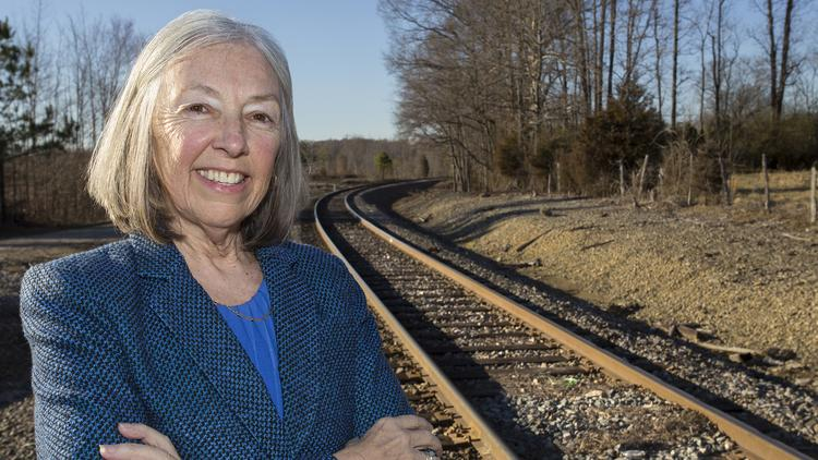 Dianne Reid, president of the Chatham Economic Development Corporation, at the Chatham-Randolph megasite. The 1,818-acre site on Wednesday received official site certification from the state.