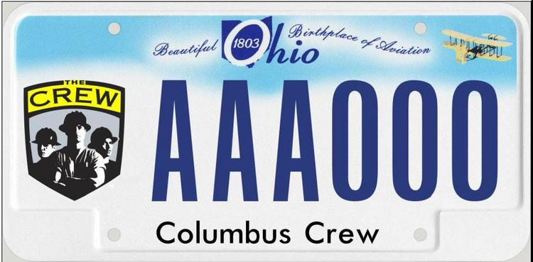 For $35, Columbus Crew fans can show their loyalty on new branded license plates.