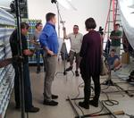 Behind the scenes with Anthony Sullivan at an OxiClean shoot