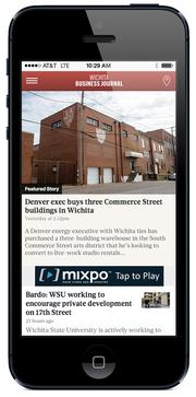 MOBILE & TABLET Warning: The Business Journal's mobile app is definitely habit-forming. Don't go into your next meeting and get blindsided by news. Paid subscribers, you get the same full-length stories on our tablet app as you do in the paper product. Find the app at WichitaBusinessJournal.com/apps