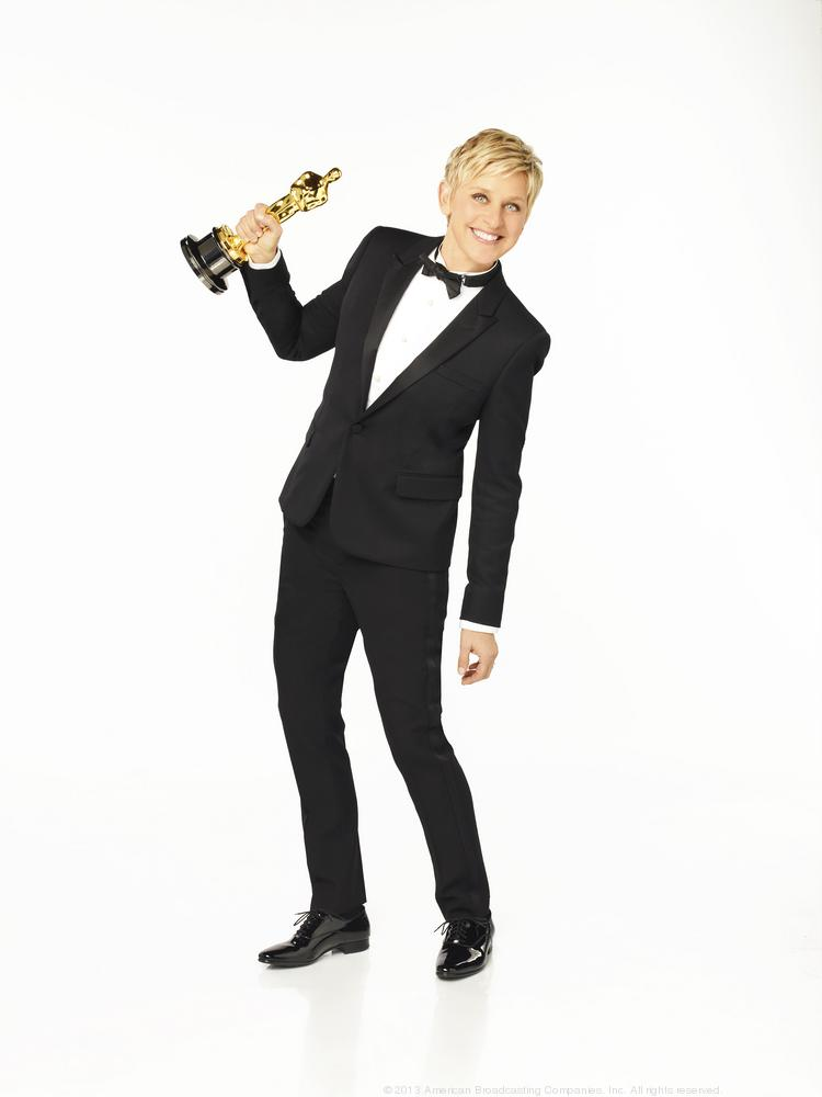 Academy Awards host Ellen DeGeneres snapped selfies using a Samsung Galaxy in front of the camera, but uploaded photos to Twitter using an iPhone backstage.