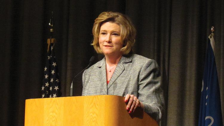Nan Whaley, Mayor of Dayton, at a previous event.