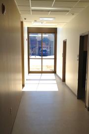 Plenty of big windows allow for lots of natural light to fill hallways, waiting areas and exam rooms (where the windows are near the ceiling to maintain privacy).
