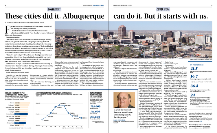 With Albuquerque's economy languishing, we looked at how other cities with major economic challenges turned things around. The central ingredient: business leaders willing to step forward, come together and create a vision for reinventing their city. So, what do you want Albuquerque to be?