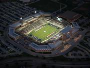 Allen ISD's $60 million football stadium is has extensive cracking in the stadium's concourse.