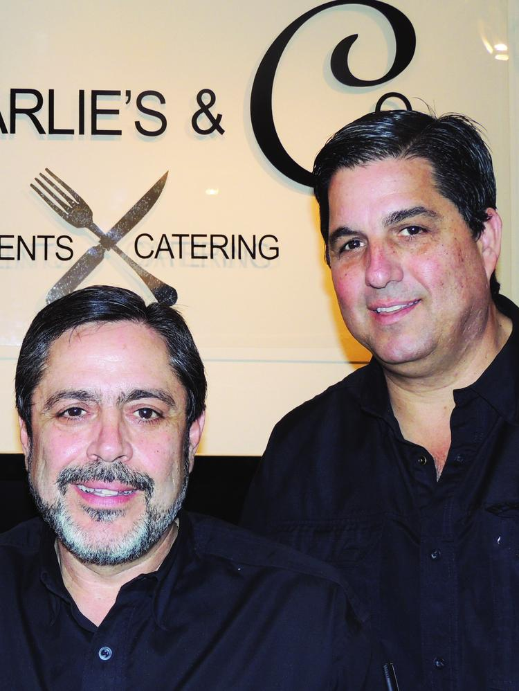 Frank (left) and Stathy Demeris of Charlie's & Co. Catering.