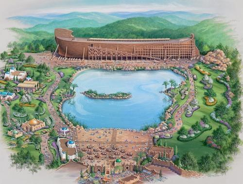 Answers in Genesis is planning to build a Biblical theme park called Ark Encounter in Williamstown, Ky. It will feature a 510-foot wooden ship built to specifications listed in the Bible.