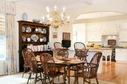 The eat-in kitchen at the main house at 142 Hopewell.
